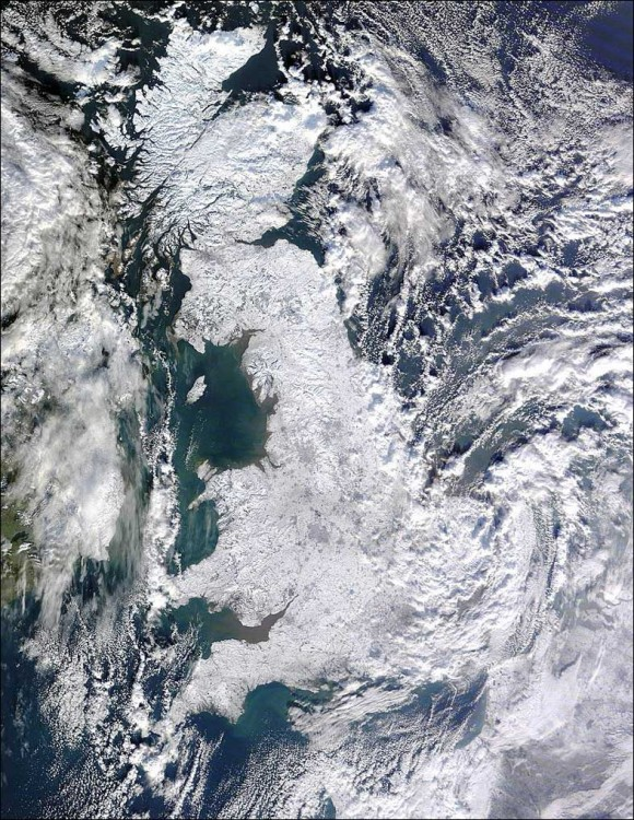 uk snow map january 2010