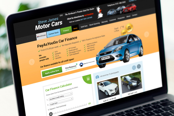 Driving customers to steve james motor cars website for James motor company used cars