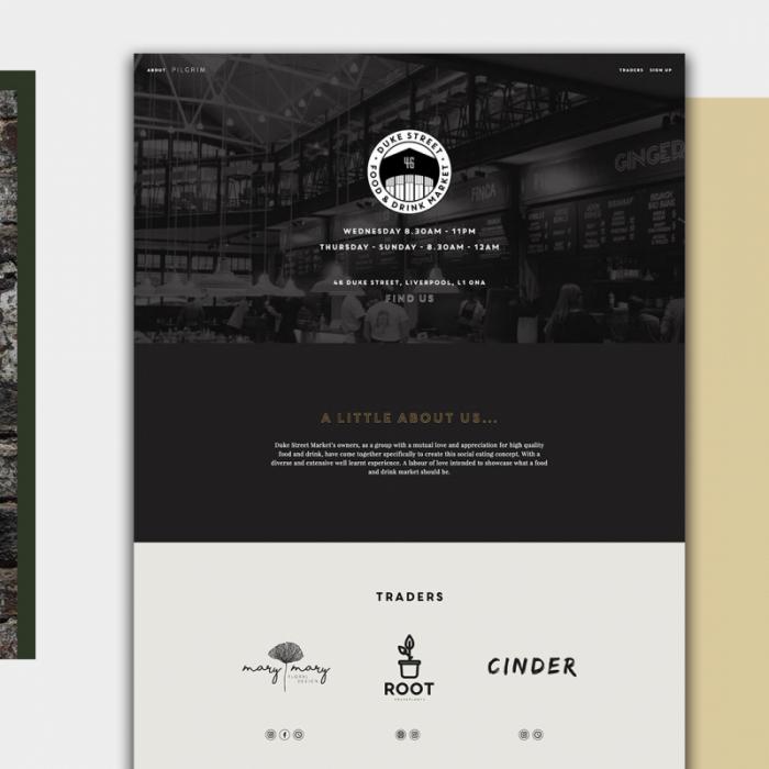 image of a menu design at duke street market